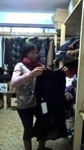Die letzten Vorbereitungen für die Boutique.