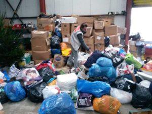 In Calais haben wir eure Spenden abgeladen.