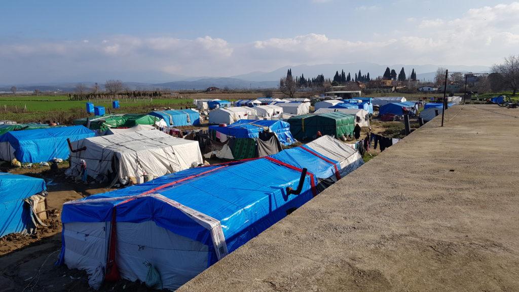 Eines der Camps von oben.