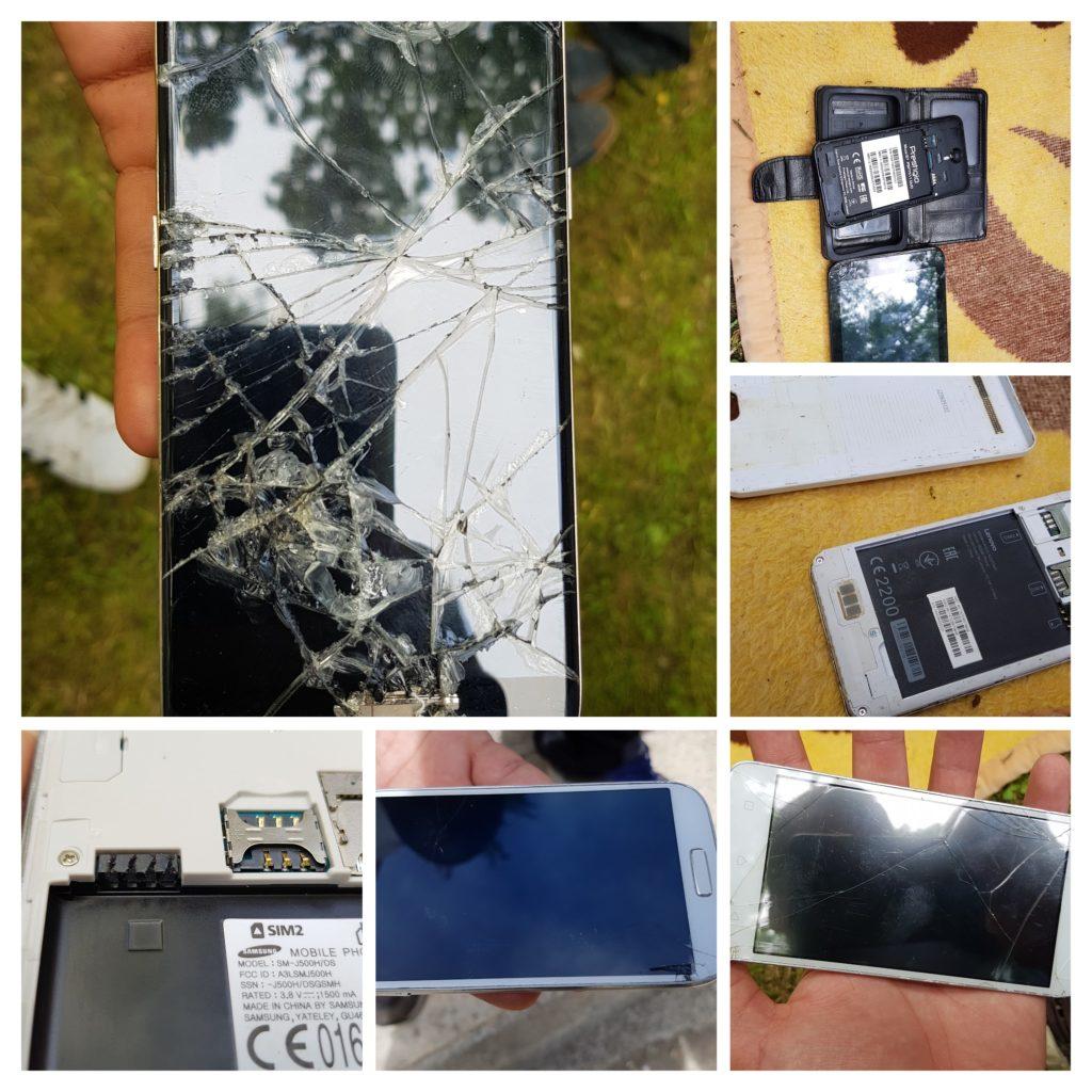 Viele berichten von Polizeitgewalt, auch Smartphones werden zerstört.