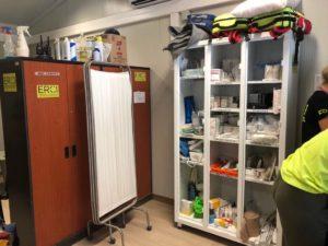 Ein Raum der ehemaligen# Klinik in Moria