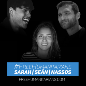 Free Sarah, Sean und Nassos