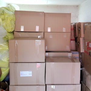Die Decken liegen in unserem Lager bereit für den Transport.
